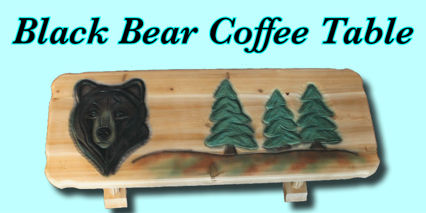 Black Bear Coffee table, wildlife art resin art, wall art, whale art, humpback