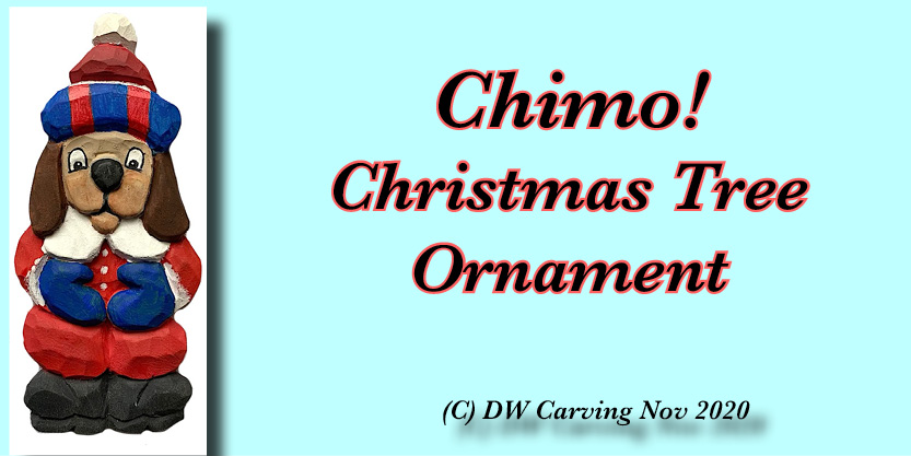 Carved Christmas Chimo tree ornament