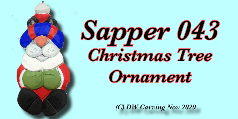 Carved Sapper 043 Christmas Tree Ornament