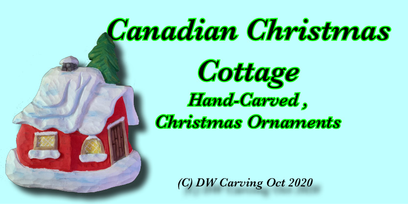 Carved Christmas cottage