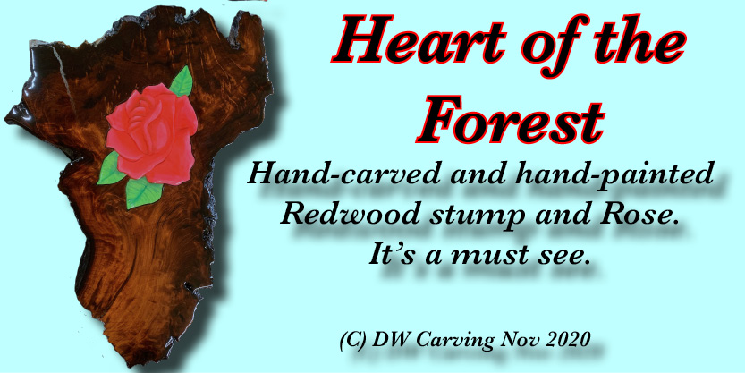 Heart of the Forest Carving, climate change art, maple tree art