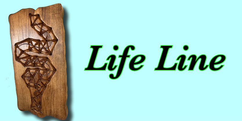 Wall art home decor and office decor life line art dwcarving