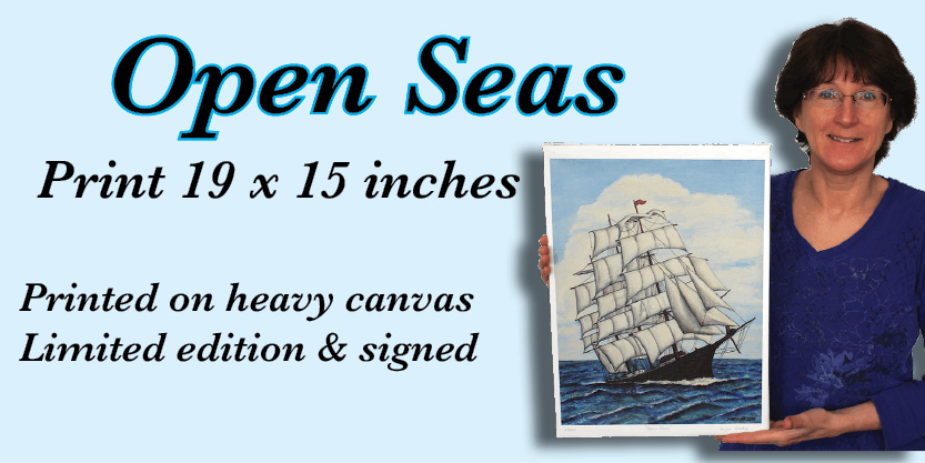 Open Seas Numbered and signed very cool prints wildlife Tall Ships Military Kandahar Prints