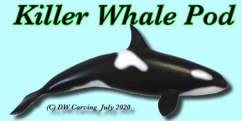 Killer Whale Carving, orca carving, whale carving, wildlife carving