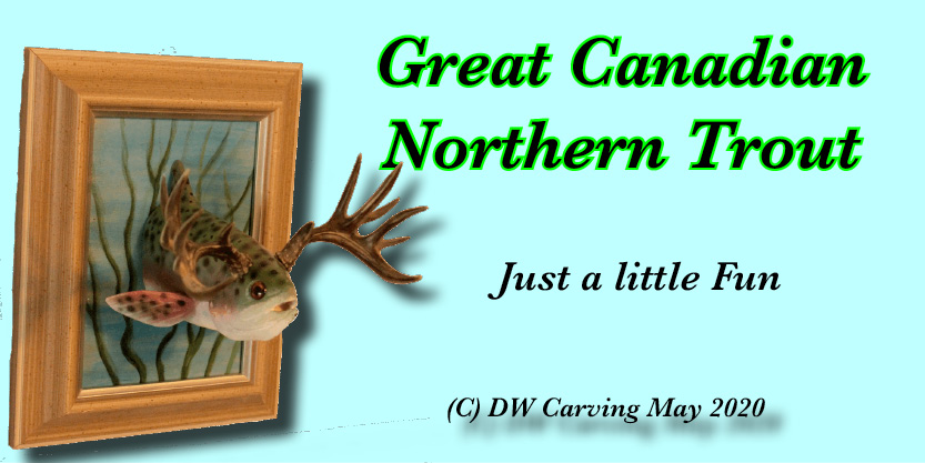 Great Canadian Northern Trout Carving, fish carving, wildlife carving, Canada, New Brunswick