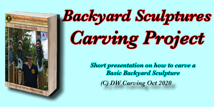 Backyard Sculptures ebook, Free carving lessons, free carving e-books  and free carving tutorials coming soon