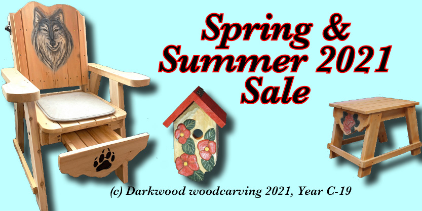 garden sculptures, wood carvings,