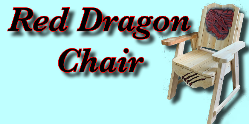 Red dragon chair, deck chair, garden chair, garden furniture